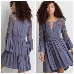 Periwinkle Lace Flowy Dress